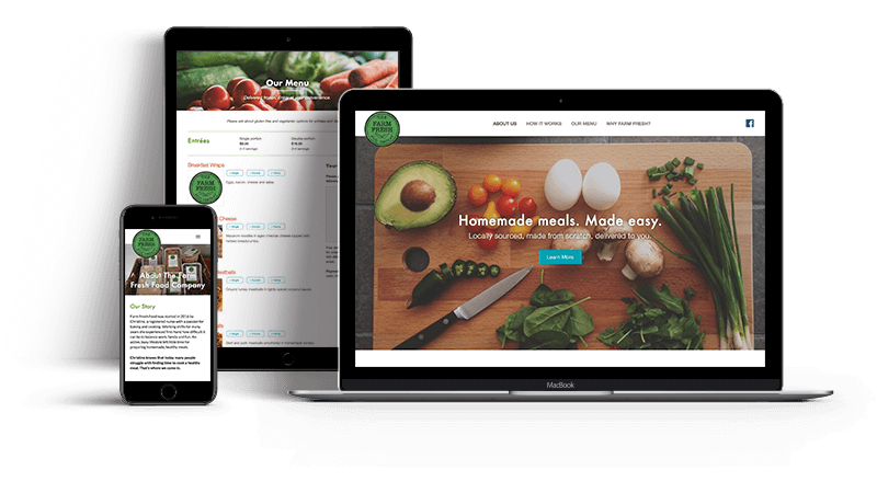 Farm Fresh Food Co. Meal Delivery Website